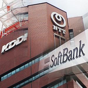 KDDI、ソフトバンクいずれも新安値、ドコモTOBで携帯料金引き下げに現実味◇