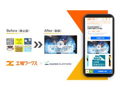Kaizen Platform、工場・製造業の採用DXに向けインターワークスと協業働き方の改善に向けた動画ソリューションを提供